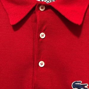 Lacoste Shirts - Izod Lacoste Men's Red Polo Shirt Large S/S